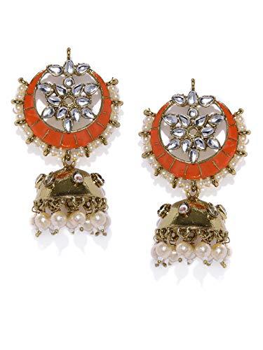 Zaveri Pearls Classic Enamelled Jhumki Earring For Women-ZPFK8782
