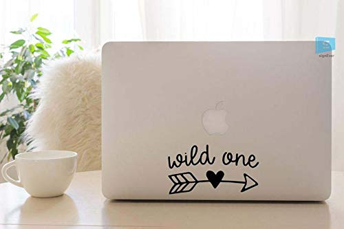 SIGN EVER Wild One Stickers for Laptop Skin 15.6 14 13 Inches and All Models Laptop Sticker L x H 10.50 cm x 6.50 cm Pack of 2