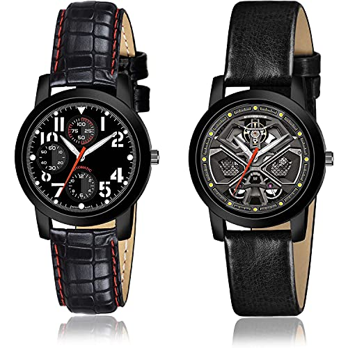 NEUTRON Chronograph Analogue Black and Grey Color Dial Women Watch - (51-L-4)-(30-L-6) (Pack of 2)