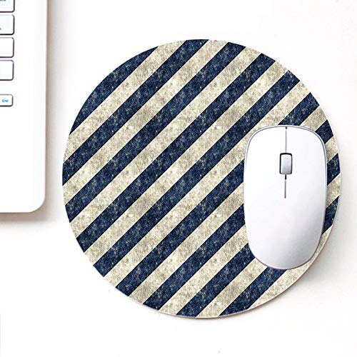 DASM United UVDesigner Printed Round Mouse Pad for Laptop n Computer | Grungy Stripes Pattern | Mousepad for Gamers | Gaming Mousepad