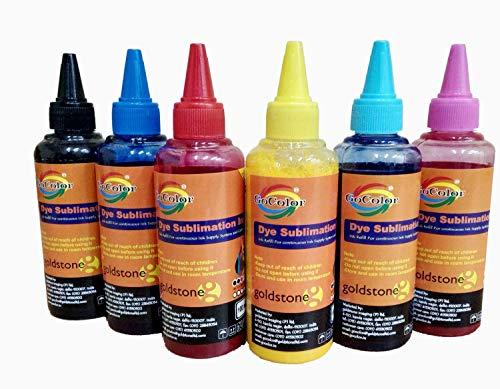 GoColor Premium DYE Sublimation Ink 100 Ml X 6 Color For only Epson Printer
