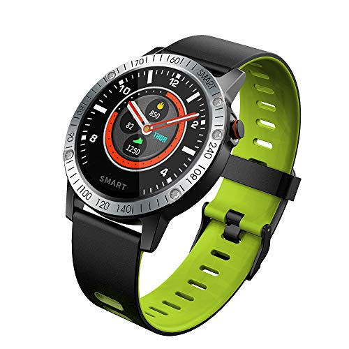 Bingo F6S Plus Smart Bluetooth Earphone Fitness Band Activity Tracker with Heart Rate Monitor, IP68 Waterproof Compatible with iOS and Android (Green)