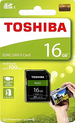Toshiba 16GB UHS-I Class 10 SDHC Memory Card (Read Speed Upto 100 MB/s) (16GB)