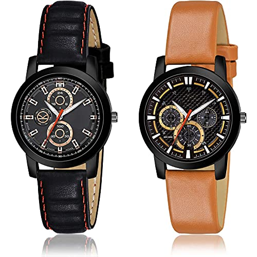 TIMENTER Stylish Analogue Grey and Black Color Dial Women Watch - (74-L-5)-(72-L-9) (Pack of 2)