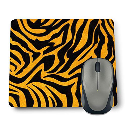 Shop-buz Printed Non Slip Rubber Designer Mouse Pads for Quotes/Pattern (220 mm x 180 mm x 3 mm) Multicolor (Tiger Pattern 08)