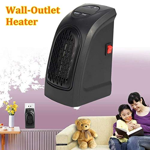 Upsham® 400W Wall-Outlet Electric Heater Handy Heater for Dens, Reading nooks, Work, bathrooms, Dorm Rooms set of 1 pcs