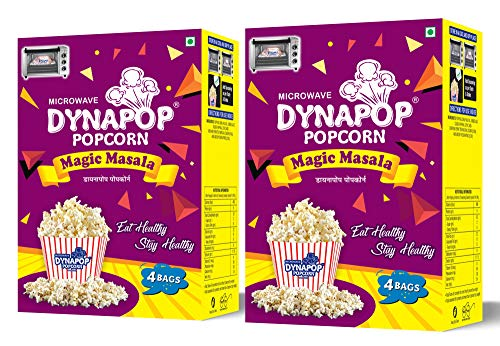 Dynapop®, Microwave Popcorn, Magic Masala Combo Pack 800g (2 x Pack of 4 x 100g)