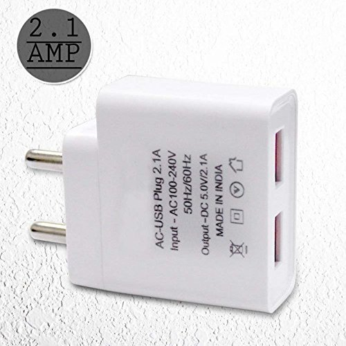 STACKCART Ultra 2.1 Amp.Dual Mobile Charger for Samsung Galaxy Tab Pro 8.4 3G/LTE/Hi Speed Certified Travel Charger/Wall Charger/High Speed Android Chager with 1 Meter Micro USB Cable.(2.1Amp.White)