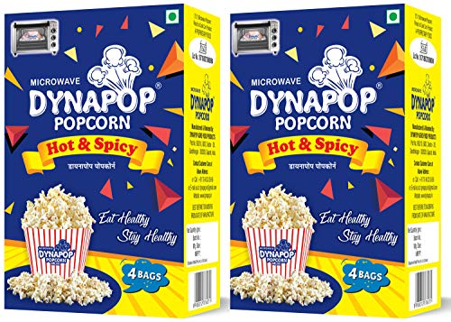 Dynapop®, Microwave Popcorn, Hot & Spicy Combo Pack 800g (2 x Pack of 4 x 100g)