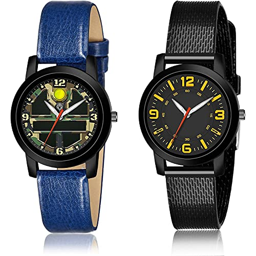 TIMENTER Luxury Analogue Green and Black Color Dial Women Watch - (34-L-7)-(48-L-10) (Pack of 2)