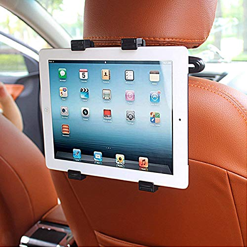 CEUTA®, Car Headrest Mount Holder Rotating Cradle Back Seat Dock Stand for iPad/Samsung Tab and Other Tablets