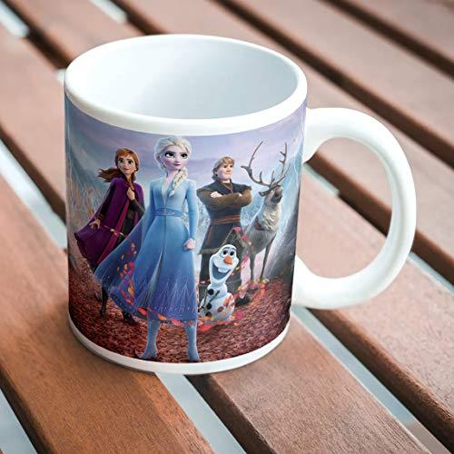 360edutech, disney princess frozen coffee mug cup, 11oz / 325ml, merchandise, birthday gift, accessories, food grade long lasting print, microwave & dishwasher safe, dpmv2- Multi color
