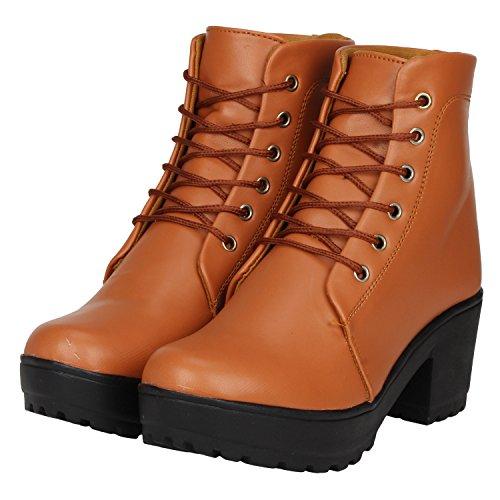 FASHIMO Women's & Girl's Boot PN1-tan-38