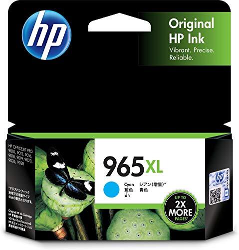 HP 965XL Cyan Ink Cartridge.