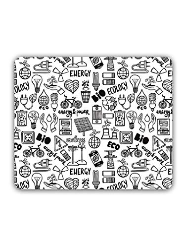 Madanyu Designer Mousepad Non-Slip Rubber Base for Gamers - HD Print - Energy Eco Elements