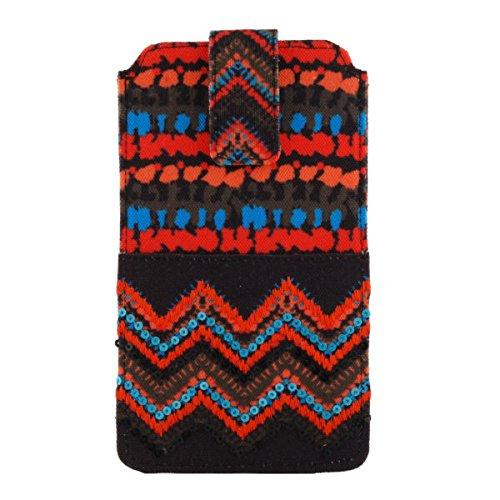 Pinaken Women and Girls Canvas Smartphone Cover (Ikat)