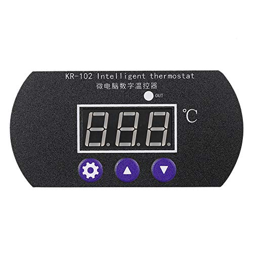 Anself KR-102 DC 12V 10A Micro Control Panel Ajustable Digital Thermostat for Incubator Controller Electronic Heat Cool Temperature Regulator Meter with Sensor Probe Tester