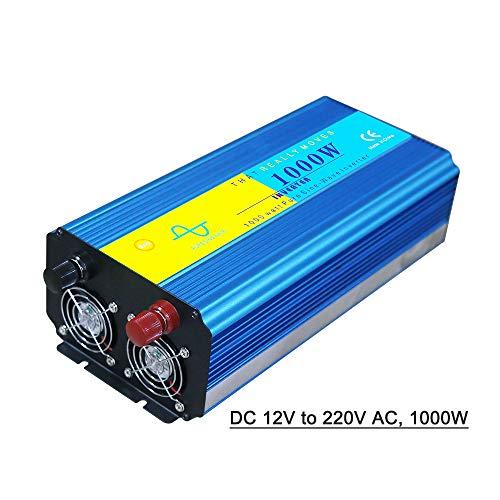 dodocool Power Inverter Vehicle Power Converter Universal Pure Sine Wave DC 12V to 220V AC, 1000W