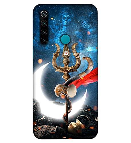 Trishul damru Bholenath Printed Design Mobile Case Cover Phone Hard Back Covers for Realme 5/ Realme 5s/ Realme 5i/ Realme narzo 10