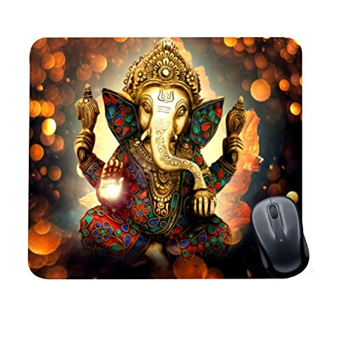 Family Shoping Year Gifts Item Office Printed Ganesha Mousepad for Computer, PC, Laptop, Grey