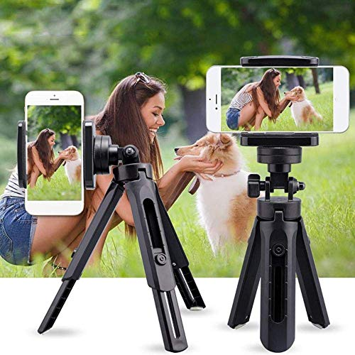 Finate Portable Mini Tripod with 3 Leg Base Tripod with Phone Holder for Android & iOS Foldable Handheld Monopod Extendable Cellphone Stand Tripod Stand Handle Grip.