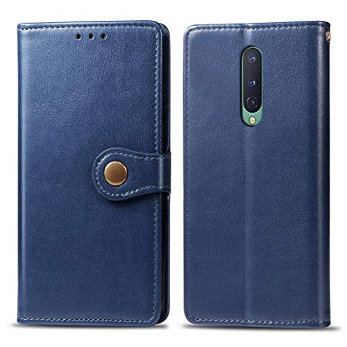 ZCLINXHEFSDSS New Cell Phone Cases for OnePlus 8 Retro Solid Color Leather Buckle Phone Case with Lanyard & Photo Frame & Card Slot & Wallet & Stand Function Fashion