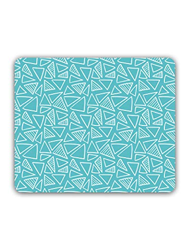 Madanyu Designer Mousepad Non-Slip Rubber Base for Gamers - HD Print - Different Triangles