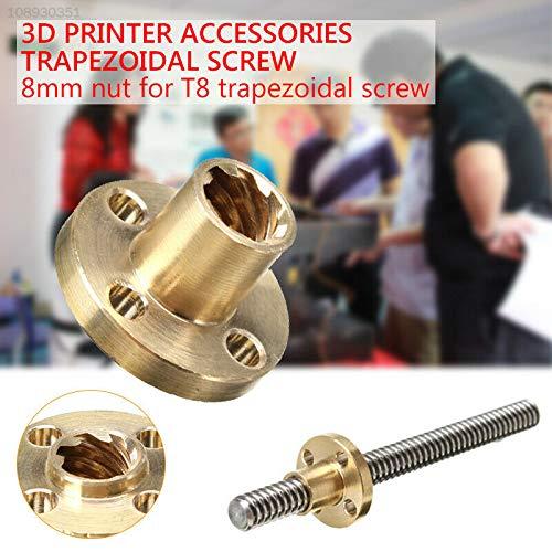 ELECTROPRIME 69C7 Brass Threaded Rod Firm Lead Screw Nut Parts Stepper Motor Nut