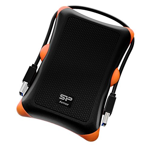 Silicon Power A30 2TB Rugged USB Portable External Hard Drive (Black)