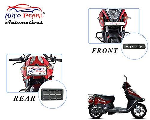 Auto Pearl Plastic Bike Registration License Plate Frame Holder, Bike Protective Frame License Plate Covers Holders for - Flash