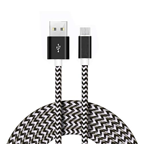 NIRSHA Nylon USB Cable Compatible for Xiomi Redmi Y1 (Note 5A)/ Redmi Y1 Lite/Redmi 4 (4X)/Redmi Note 4X/ Redmi Note 4/ Redmi 4A Micro USB Data Cable| Quick Fast Charging Cable| Transfer Android V8 Cable