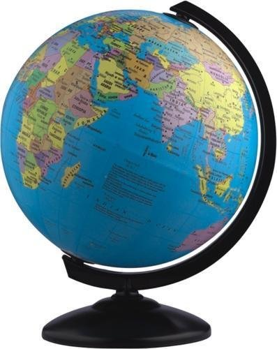 Pmw - Spinning World Globe with Stand - Globe 4 inch - Desktop Political Globe - Student Globe - Study