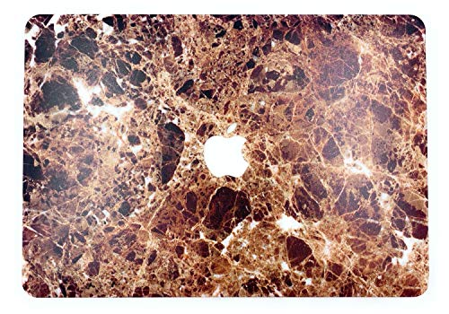 """24x7 eMall Rubberized Hard Shell Cover Compatible Old MacBook Air 13"""" (2010-2017 Release), Brown Marble Emperador"""