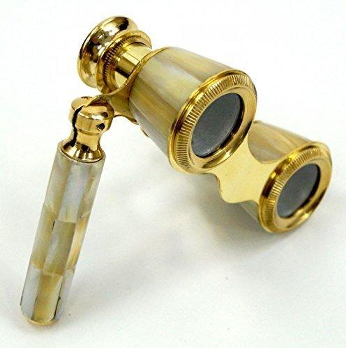 NAUTICALMART Brass Binocular Mother Of Pearl - Opera Binocular By Nauticalmart