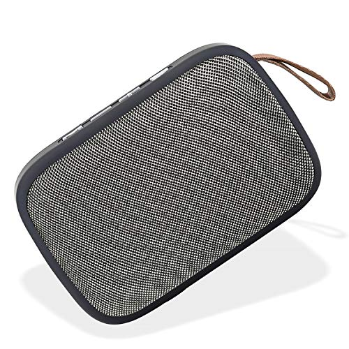 UBON SP-15A Swanky Bass 5W Wireless Bluetooth Speaker 6H Playtime Portable Rechargeable Travel Speaker with 3.5mm Aux, FM, SD Card & USB Support for Smartphone & Laptop (Black)