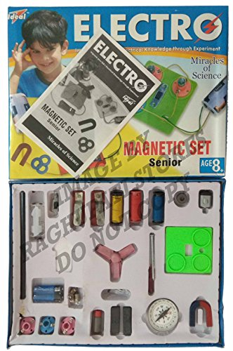 Ideal Electro Magnetic Set Senior Kit for Kids Science Experiments Basic Practical Miracles, Magnets, Electricity, Battery etc