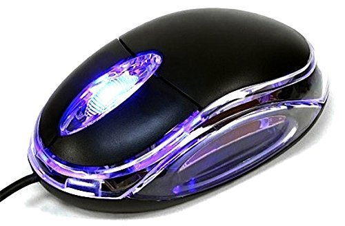 R.k Sons Wired Plug and Play Optical Mouse for Laptop and Desktop Computers- Black Color