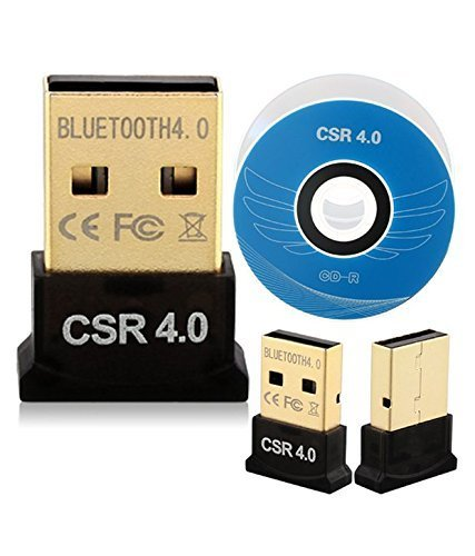 NK STAR USB Bluetooth Adapter, CSR 4.0 USB Bluetooth Dongle Receiver with All in One Driver CD