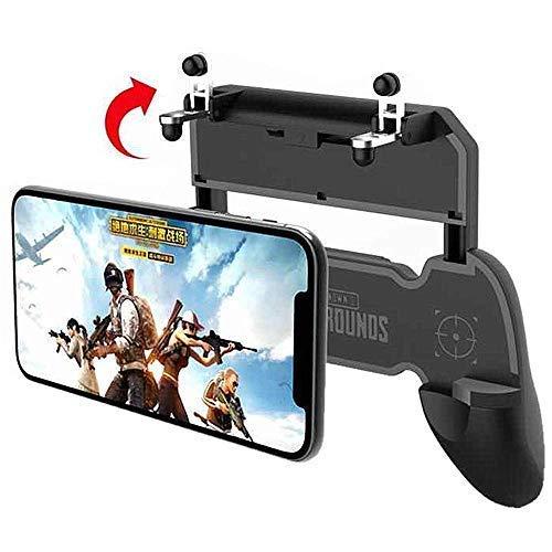 OAHU® 2 in 1 PUBG Mobile Remote Controller Gamepad Holder Handle Joystick Triggers L1 R1 Shoot Aim Button(Black)