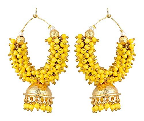 Kshitij Jewels Women's Stunning Alloy Earrings - White [KJS283]