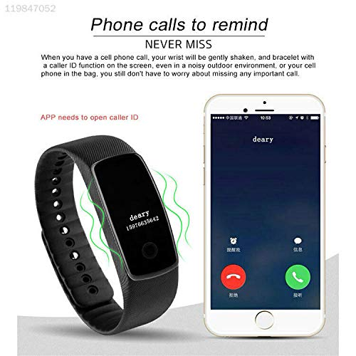ELECTROPRIME Black Smartband A7 Android iOS Bluetooth Smart Watch BT4.0 Bracelet Pedometer