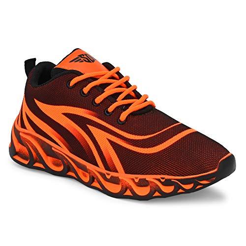 SHOE DAY Men's MESH AIR Multi-Colored Series Ultralight Sports Jogging Walking Running Shoes CP112 Green