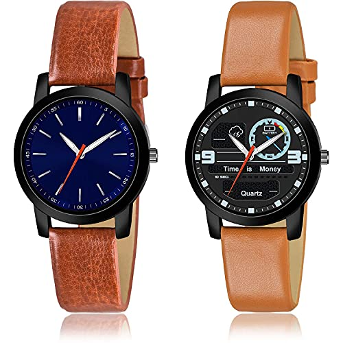 GROOT Royal Analogue Blue and Black Color Dial Women Watch - (54-L-8)-(5-L-9) (Pack of 2)