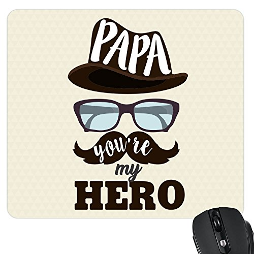 YaYa cafe Hero Papa Dad Printed Mouse Pad for Dad
