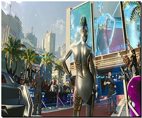 SKY DOT Cyberpunk 2077 Video Game Art cd projekt red (13) Multicolor Mousepad
