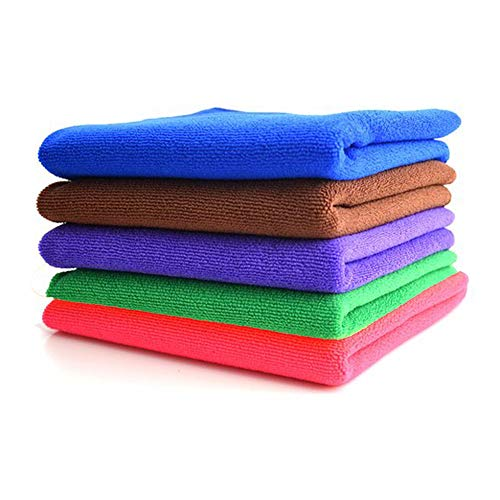 Motorola Moto Tech Microfiber Cleaning cloth   5 Pcs   350 GSM   40X40 Cms   Thick, Lint and streak Free   Multipurpose Cloth for Car, Bike, Window, Kitchen, Home, office