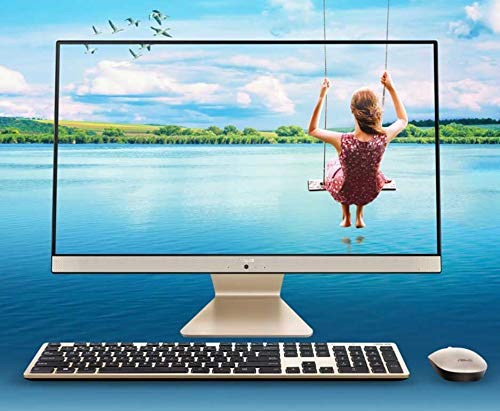 Asus Vivo AiO V222FAK-WA119T 21.5-inch FHD All-in-One Desktop (Intel I3 1011U/4GB RAM/1TB HDD/Windows 10 /Integrated Graphics), Gold/Black
