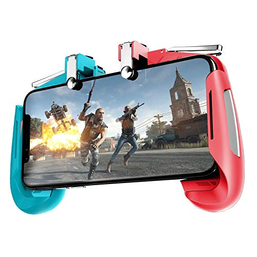 "ITOKO®AK16 Gamepad Mobile Game Controller for PUBG Mobile Controller L1R1 Mobile Game Trigger Joystick Gamepad for 4-6.5"" iOS & Android Phone"