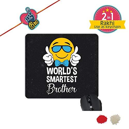 TheYaYaCafe Yaya Cafe Bhaidooj Birthday Gift for Brother, World Smartest Brother Printed Mouse Pad