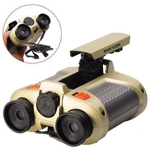 Thetrust store Night Scope Toy Binocular with Pop-Up Light and Night-Beam Vision Focusing Telescope Night Vision Binoculars Fun Cool Toy Gift